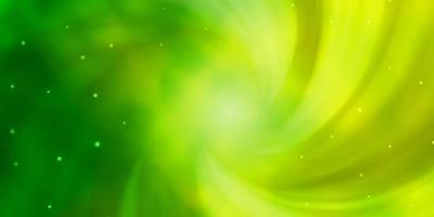 ljusgrön bakgrund med små och stora stjärnor.
