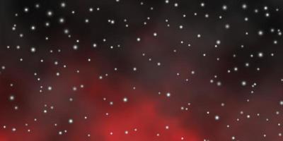 dunkelbraunes Layout mit hellen Sternen.