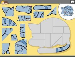 Puzzlespiel mit Cartoon-Katzenfigur