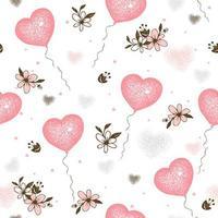 Luftballons Herzen zum Valentinstag