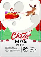 julfest händelse affisch design med söt santa