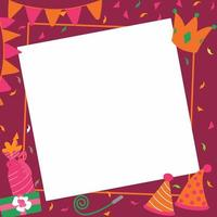 Grattis på födelsedagsfest element bakgrund vektor