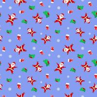 Weihnachten niedlich glückliches Santa Claus Kirschsocken lila Muster für Geschenkpapier