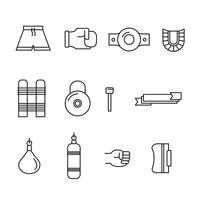 Muay thailändska ikoner vektor