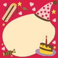 födelsedag och fest kortelement