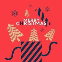Frohe Weihnachten und Kiefer Web-Vorlage vektor