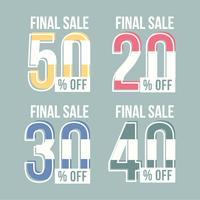 Vektor-Preis-Verkauf-Grafiken