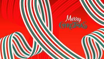 roter Hintergrund von Weihnachten und Neujahr