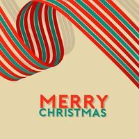 Weihnachten und Neujahr mit grünem und weißem Band
