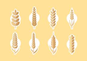 Weizen Ohren kostenlose Vector Pack
