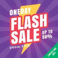 24-timmars Flash-försäljningsbanner vektor