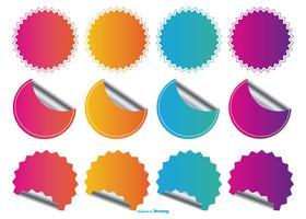 Pris Flash Stickers Collection vektor