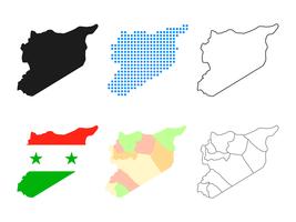 Syrien karta vektor