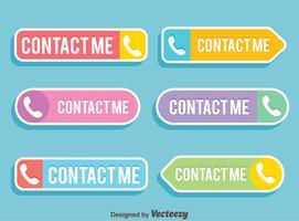 platt kontakt mig knapp vektor