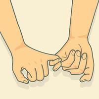 Hand zum kleinen Versprechen