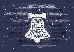Gratis Vintage Christmas Bell Silhouette Vector Bakgrund
