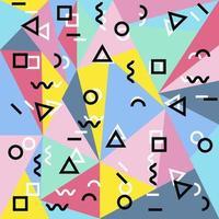 polygonaler Memphis Hintergrund vektor