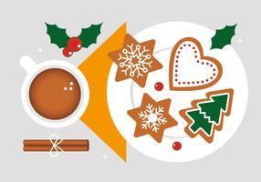 Kostenlose Weihnachts-Elemente-Hintergrund-Vektor
