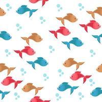 fisk med bubblor mönster vektor