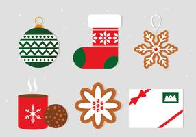 Gratis Flat Christmas Vector Elements