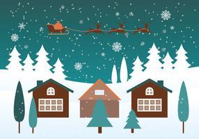 Freier Weihnachtshintergrund-Vektor vektor
