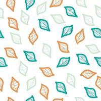 buntes Blatt nahtloses Muster vektor