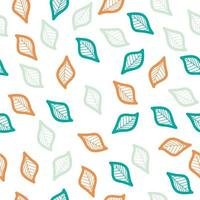 färgglada blad sömlösa mönster vektor