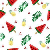 tropisk vattenmelon skiva mönster vektor