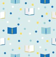 Bücher nahtloses Muster