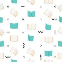 öppna böcker sömlösa mönster vektor