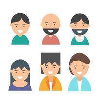 uppsättning människor avatarer vektor