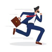 Geschäftsmann läuft mit einer Aktentasche