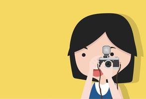 kleines Mädchen macht Foto vektor