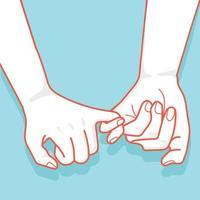 Hand zum kleinen Versprechen gezeichnet
