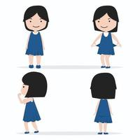 Charakter-Set für kleine Mädchen vektor