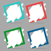 modern banner färgglad samling design