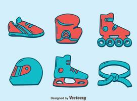 Handgezeichnete Sport Icons Vektor