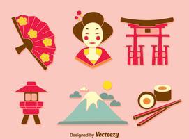 Japanischer Kultur-Element-Vektor vektor