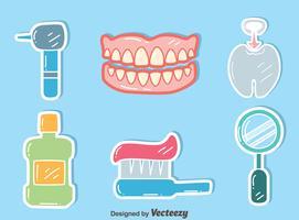 Zahnpflege auf blauem Vektor