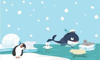 Nordpol Tier Hintergrund