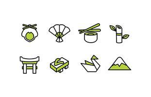 japan ikonuppsättning