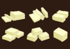 Satz von Tofu Vektor
