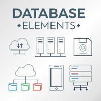 Freie Datenbank-Elemente-Vektor vektor