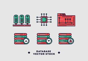 Gratis databasvektor vektor