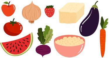 Freie vegetarische Vektoren