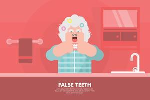 Falsk tänder illustration