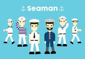 Seemann-Vektor-Pack