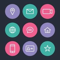 Vita ikoner för postning vektor