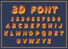 Kostenlose 3D-Schriftart vektor