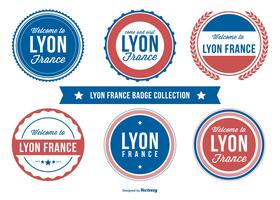 Lyon Frankreich Abzeichen Sammlung vektor